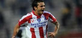 """Vicenza-Brescia 2-0, ancora a segno Moretti. Marino: """"Contento per lui, lavora molto in settimana"""""""