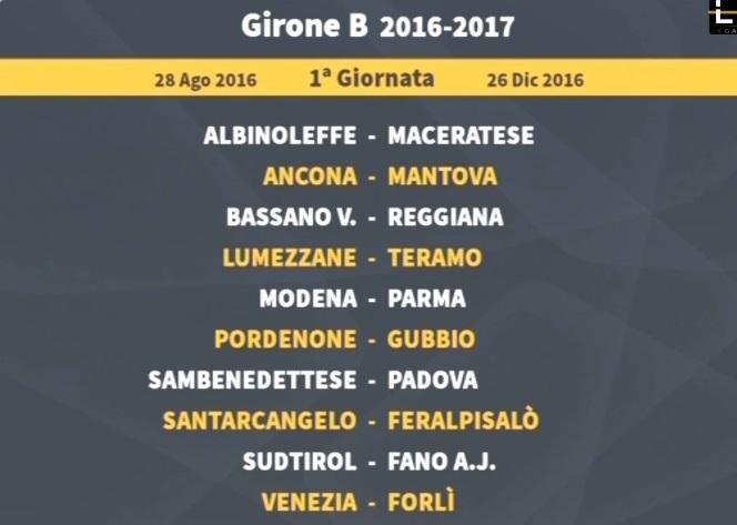 Calendario Lega Pro Girone B Anticipi E Posticipi.Calendari Lega Pro La Diretta Esordio A San Benedetto Del