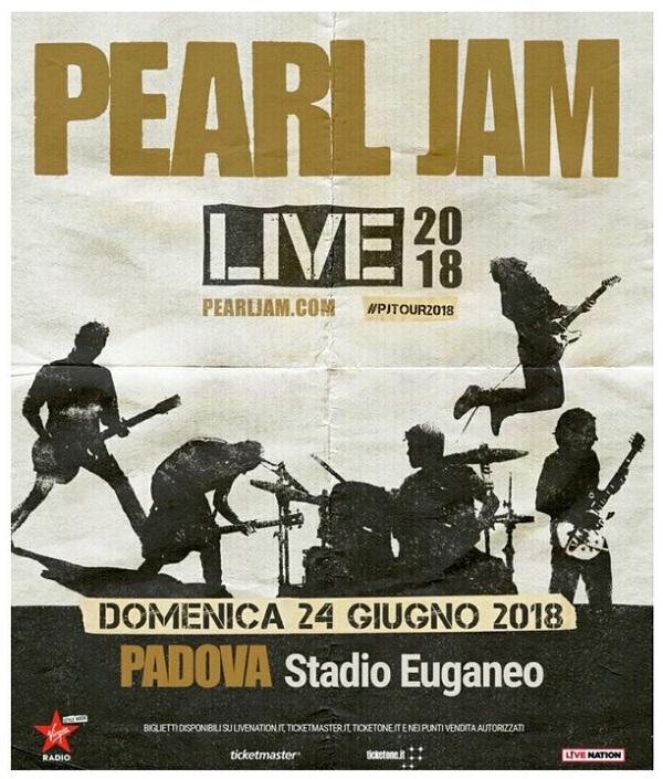 Sarà il concerto dell'estate! I Pearl Jam a Padova il 24 giugno
