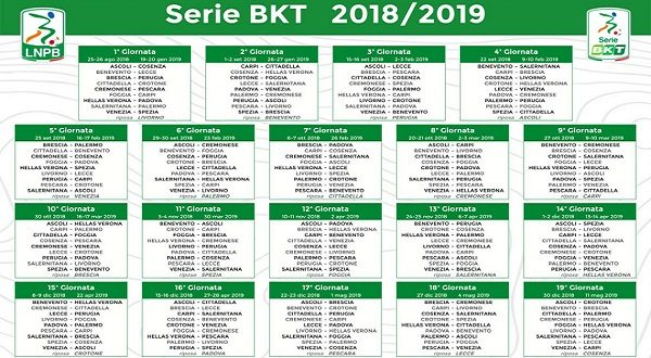 Serie A Calendario Completo.Calendari Serie B Ecco Il Calendario Completo Del Padova